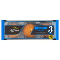 Food Connections 3 Blueberry Muffins 180g