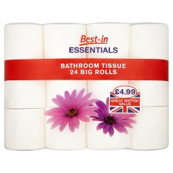 Bestin Essentials Bathroom Tissue 24pack PM £4.99
