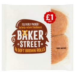 Baker Street 4 Soft Brown Rolls