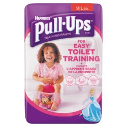 Huggies® Pull-Ups® Day Time Girls Size L (16-23kg, 24-40lbs) 12 Pants