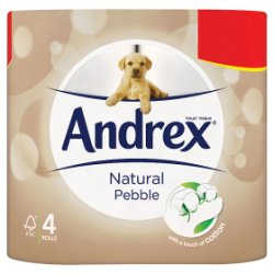 Andrex Natural Toilet Roll Tissue 4 Rolls