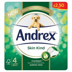 Andrex Skin Kind 4 Luxury Rolls
