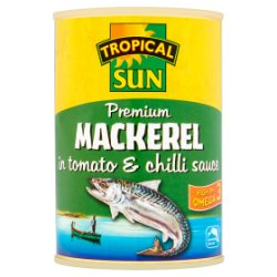 Tropical Sun Premium Mackerel in Tomato & Chilli Sauce 400g