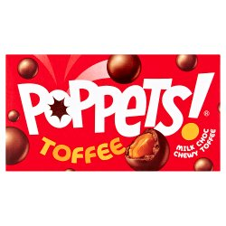 Poppets Chewy Toffee Covered in Milk Chocolate 39g