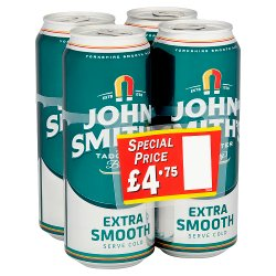 John Smith's Extra Smooth Beer 4 x 440ml