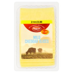 Best-in Mild Cheddar Slices 200g