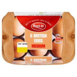 Best-in 6 British Eggs Medium