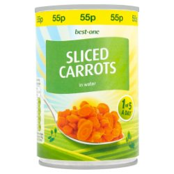 Best-One Sliced Carrots in Water 300g