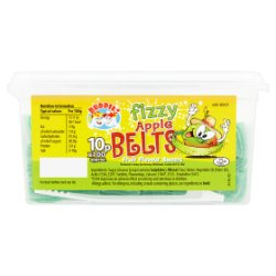 Buddies Fizzy Apple Belts Fruit Flavour Sweets