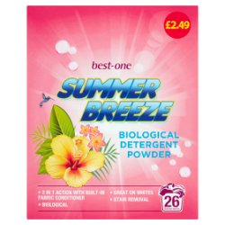 Best-One Summer Breeze Biological Detergent Powder 26 Washes 1768g