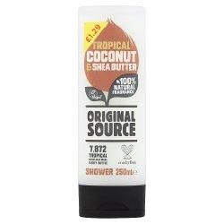 Original Source Tropical Coconut & Shea Butter Shower Gel 250ml PMP £1.29