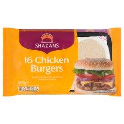 Shazans 16 Chicken Burgers 840g