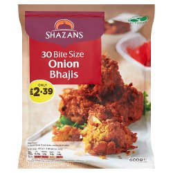 Shazans 30 Bite Size Onion Bhajis 600g