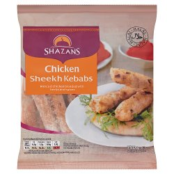 Shazans Chicken Sheekh Kebabs 750g