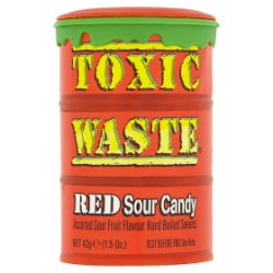 Toxic Waste Candy Dynamics Red Sour Candy 42g