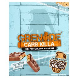 Grenade Carb Killa High Protein Bar Chocolate Chip Cookie Dough 12 x 60g