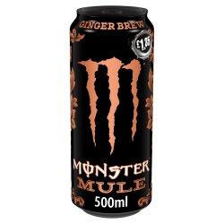 Monster Mule Ginger Brew Energy Drink 12 x 500ml PM £1.35
