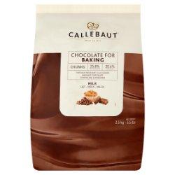 Callebaut Milk Chocolate Baking Chunks 2.5kg