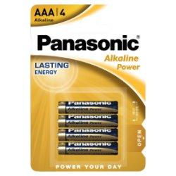 Panasonic Alkaline Power AAA Batteries 4pk