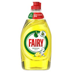 Fairy Original Lemon Washing Up Liquid Green with LiftAction. No Soaking, No Grease, No Fuss 433 ML