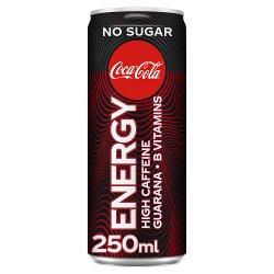 Coca-Cola No Sugar Energy Drink 250ml