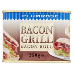Plumrose Bacon Grill Bacon Roll 250g