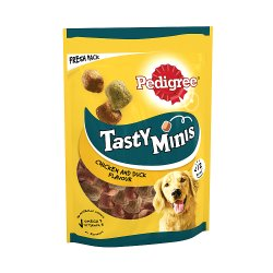 PEDIGREE Tasty Bites Dog Treats Chewy Cubes with Chicken 130g