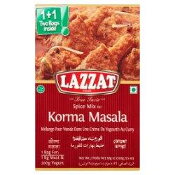 Lazzat Foods True Taste Spice Mix for Korma Masala 2 x 50g (100g)