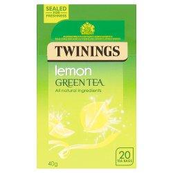 Twinings Lemon Green Tea 20 Single Tea Bags 40g