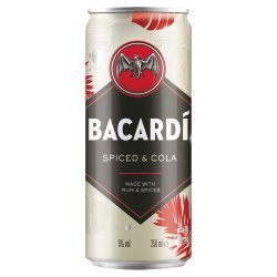 Bacardí Spiced and Cola Rum Mixed Drink 250ml