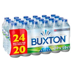 Buxton Natural Mineral Still Water 24 x 50 cl (24 for 20)