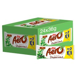 Aero Peppermint Mint Chocolate Bar 36g 2 For £1