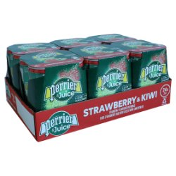 Perrier & Juice Sparkling Strawberry & Kiwi Water 6x4x250ml