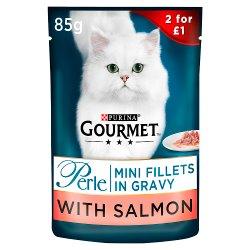 Gourmet Perle Salmon in Gravy Cat Food 85g