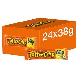 Toffee Crisp Milk Chocolate Bar 38g PMP 60p
