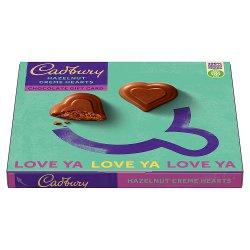 Cadbury Hazelnut Creme Hearts Chocolate Gift Card 114g