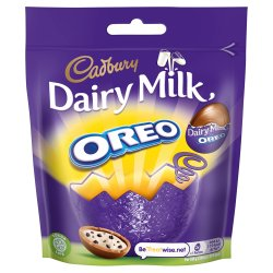 Cadbury Dairy Milk Miniature Oreo Chocolate Easter Egg Bag 72g