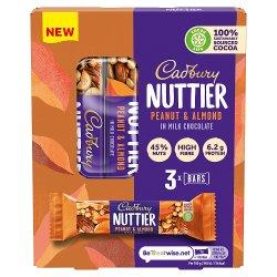Cadbury Nuttier Peanut & Almond Chocolate Bar 120g