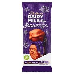 Cadbury Dairy Milk Mousse Snowman Chocolate Bar 30g