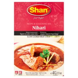 Shan Nihari Slow Cooked Meat Stew Recipe & Seasoning Mix 60g