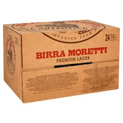 Birra Moretti Lager Beer Bottle 24 x 330ml