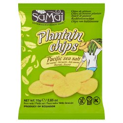 Samai Plantain Chips Pacific Sea Salt 75g