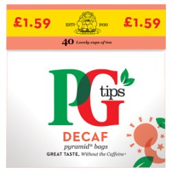 Pg Tips Decaf 40 Tea Bags