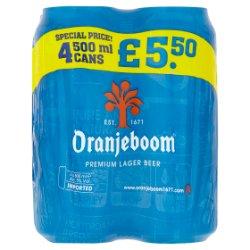 Oranjeboom Premium Lager Beer 4 x 500ml
