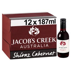 Jacob's Creek Shiraz Cabernet Red Wine 12 x 187ml