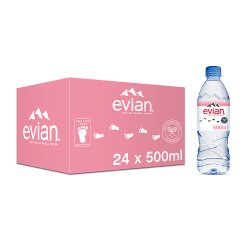 evian Natural Mineral Water 24 x 500ml