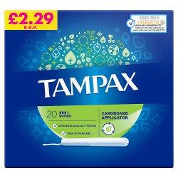 Tampax Super Tampons Applicator 20X