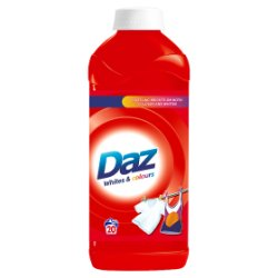 Daz Washing Liquid For Whites & Colours Clothes 20 Washes