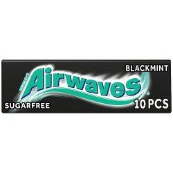 Wrigley's Airwaves Black Mint Sugarfree Chewing Gum 10 Pieces 14g