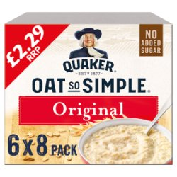 Quaker Oat So Simple Original Porridge 6 x 216g (6 Pks of 8 Sachets)